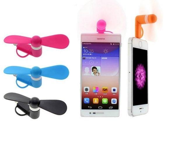 ventilator telefon mobil micro usb android si iPhone