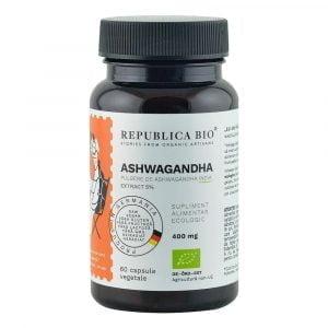 Ashwagandha Extract 5% Eco 60cps Republica Bio