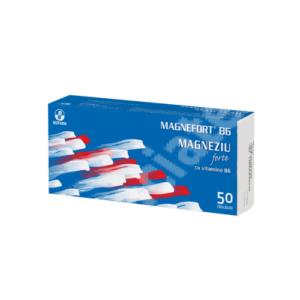 Magnefort B6 – Magneziu Forte + Vitamina B6 50drj Biofarm