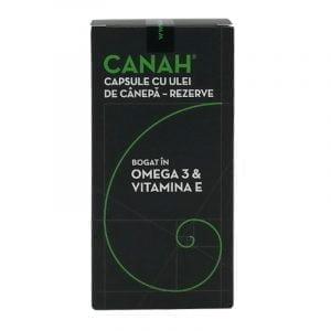 REZERVE CAPSULE CU ULEI DE CANEPA 84cps CANAH