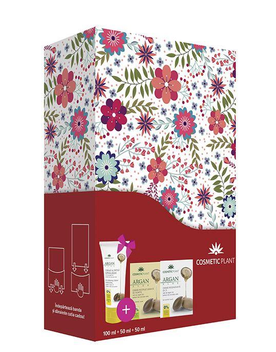 SET CADOU ARGAN/ALOE(crema Zi Crema Noapte+crema Maini(cadou)) COSMETIC PLANT