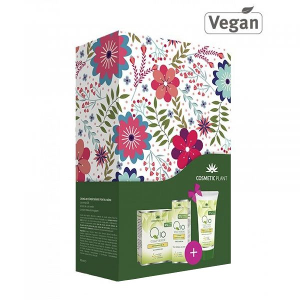 SET CADOU Q10(crema antirid zi,crema contur ochi+crema maini(cadou)) COSMETIC PLANT