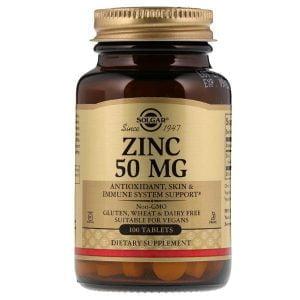 zinc 50mg 100b solgar