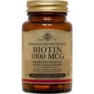 BIOTIN-1000micrograme-veg.caps-50cps-SOLGAR