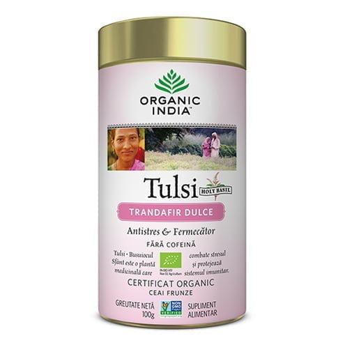 CEAI-TULSI-CU-TRANDAFIR-DULCE-ECO-100g-ORGANIC-INDIA