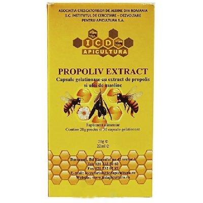 PROPOLIV-EXTRACT-flacon-20g*30cps-(gelatinoase)-INSTITUT-APICOL